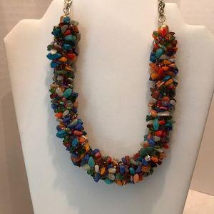 Chicos multi color stone necklace